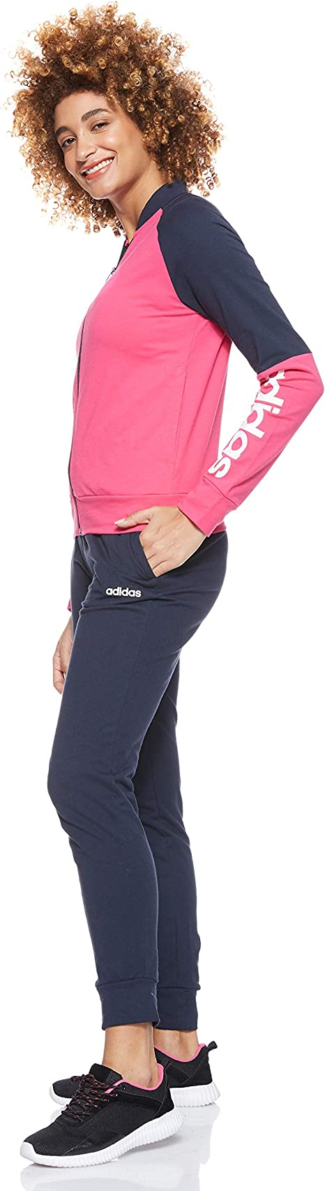 adidas WTS New CO Mark Chándal, Mujer, Magrea/Tinley/Blanco, XS ...