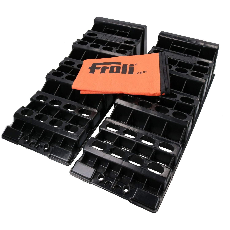 AB Tools Froli Motorhome Caravan Level Ramp Set Leveller Pack of 2 Wheel Chocks 5T by AB Tools