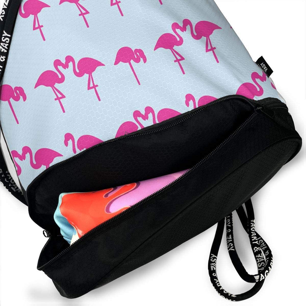 HUOPR5Q Colorful Cute Dinosaur Drawstring Backpack Sport Gym Sack Shoulder Bulk Bag Dance Bag for School Travel
