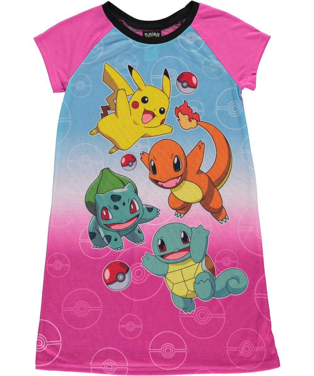 Pokemon Big Girls' Everybody Run! Nightgown 8 0040285388