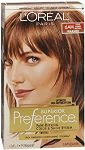 L'Oreal Superior Preference - 6AM Light Amber Brown (Warmer) 1 Each (Pack of 4)