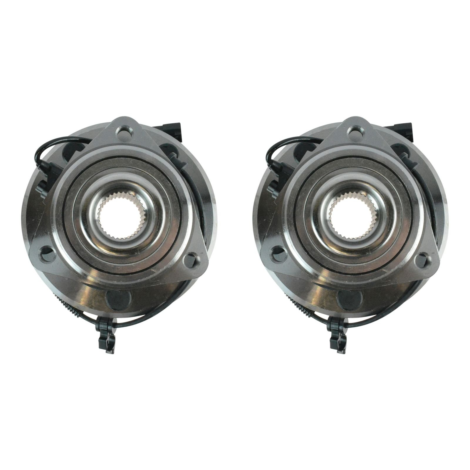 TRQ Wheel Bearing & Hub Assembly Pair Kit LH & RH Front for Jeep Wrangler by TRQ (Image #4)