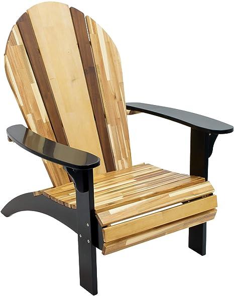 RIO Brands Indoor//Outdoor Classic Woody Surf Wood Bar Stool Black