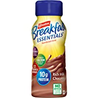 Carnation Breakfast Essentials Ready-to-Drink, Rich Milk Chocolate, 8 Ounce Bottle (Pack of 6) (Packaging May Vary)