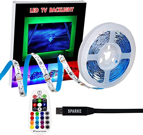 USB led Strip Lights kit 9.9ft for 32 to 60inch Rgb Red, Green, Blue