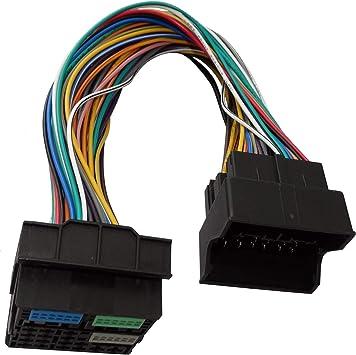 Aerzetix Iso Konverter Adapter Kabel Radioadapter Radio Kabel Stecker Iso Kabel Quadblock Verbindungskabel Auto
