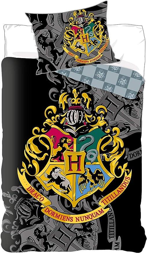BrandMac Harry Potter - Juego de funda nórdica y funda de almohada (135 x 200 cm, 80 x 80 cm, algodón): Amazon.es: Hogar