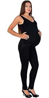Ucoolcc Damen Umstandsjeans Umstandsleggings mit Elastische Bund Umstandshose f/ür Schwangerschaft Umstandsmode Freizeithose Lange Hose