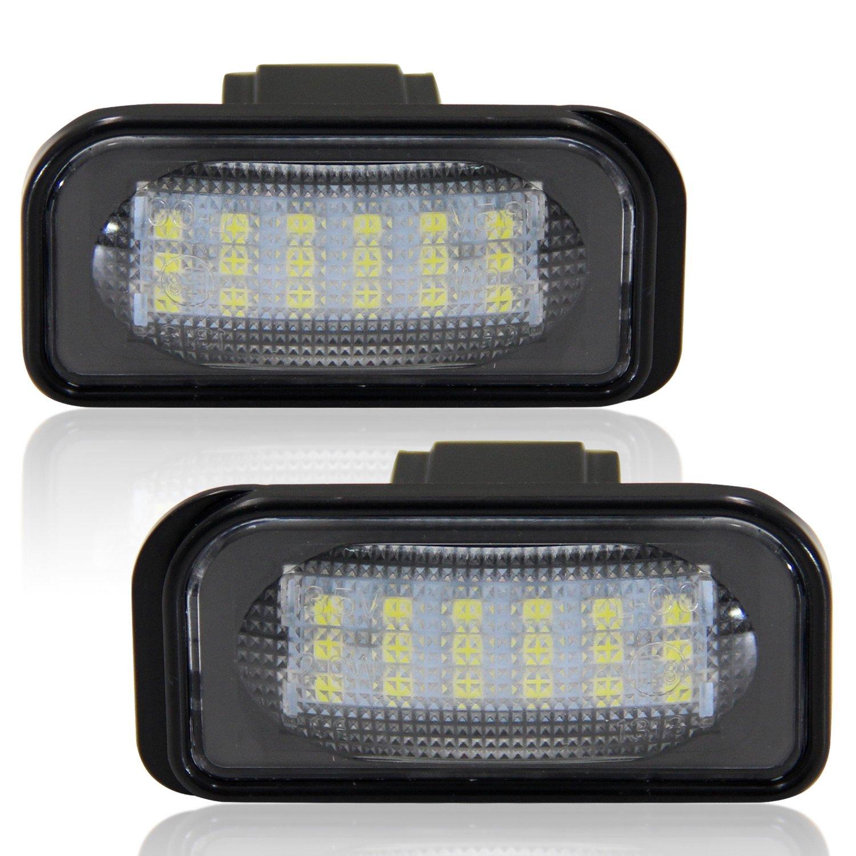 2 St/ück Wei/ß 6000K Xenon-Look Win Power SMD LED Kennzeichenleuchte Heckleuchte f/ür 12V PKW Nummernschildbeleuchtung