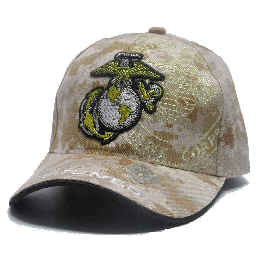 f81ebf0e0 U.S Marine Desert Logo Corps Military Ball Cap Hat USMC Licensed ...