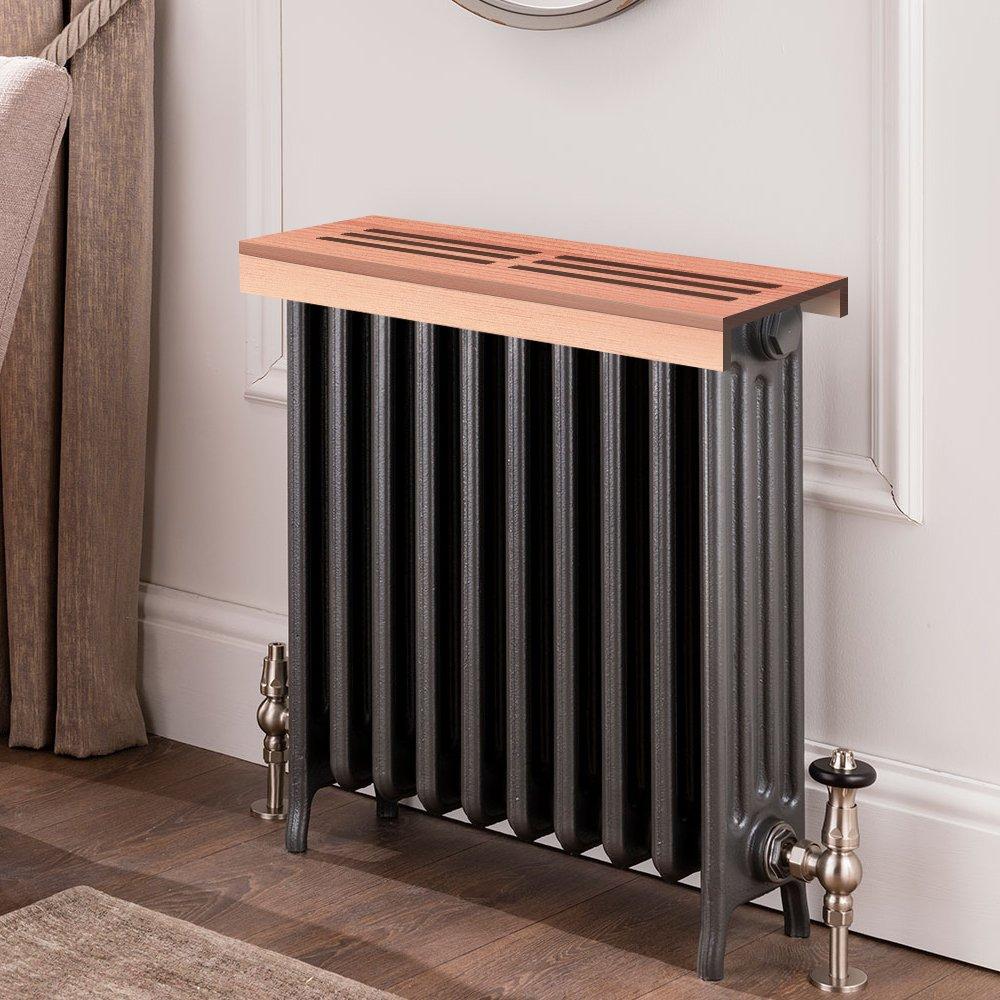 Unfinished cedar Wooden Radiator Cover Shelf, 26'' Width x 9'' Length x 3'' Height