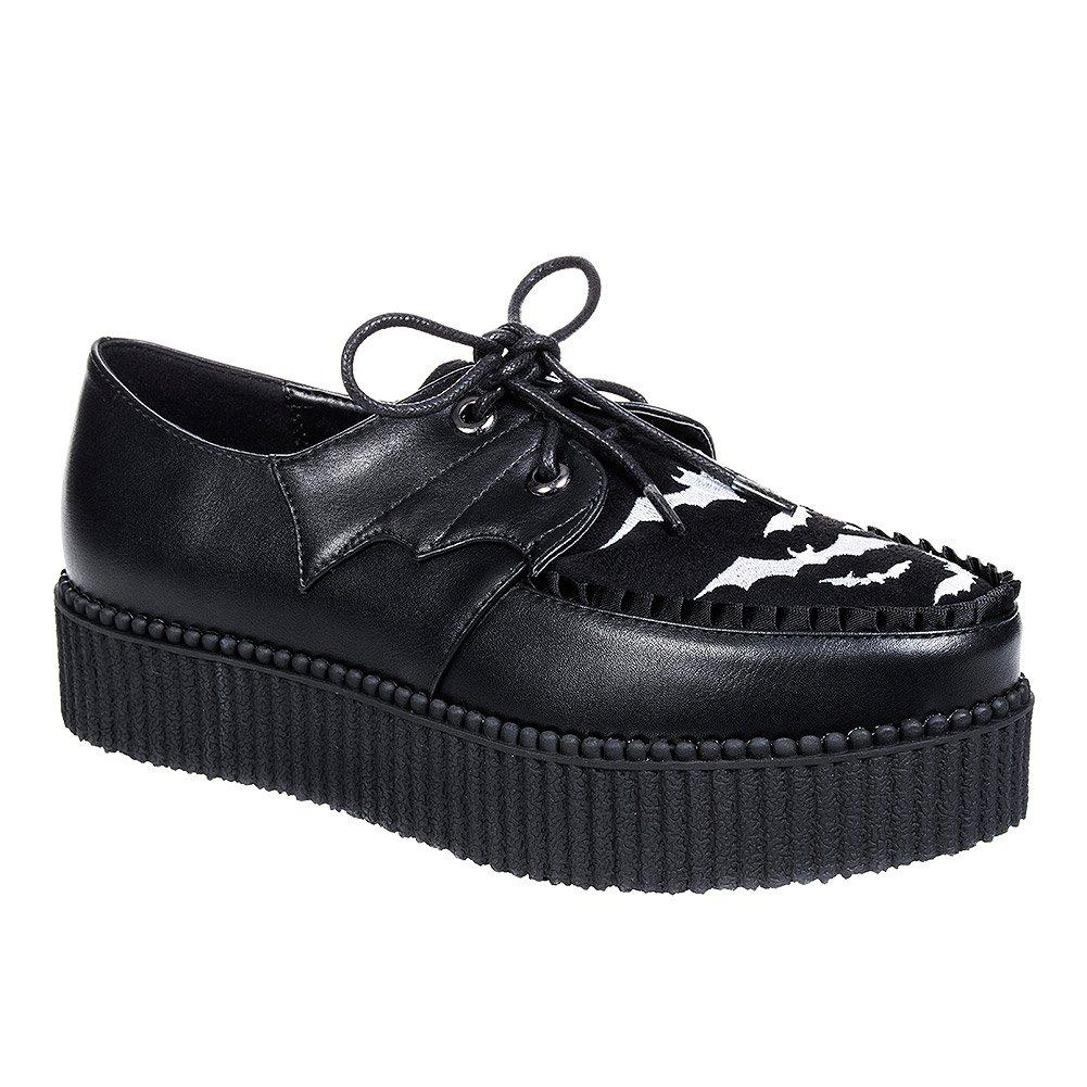 Zapatos Banned Rebel Rebel Bats Creeper (Negro) 39 EU|Negro