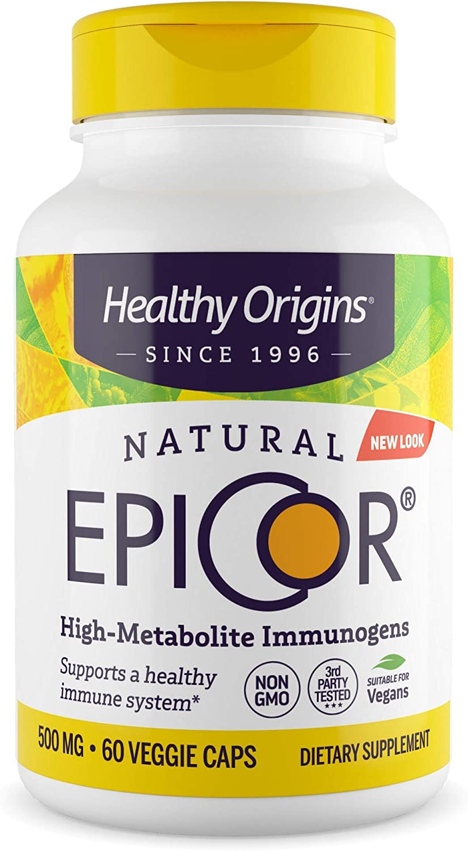 Healthy Origins Epicor Immune Balancer Multivitamin, 500 Mg, 60 Count