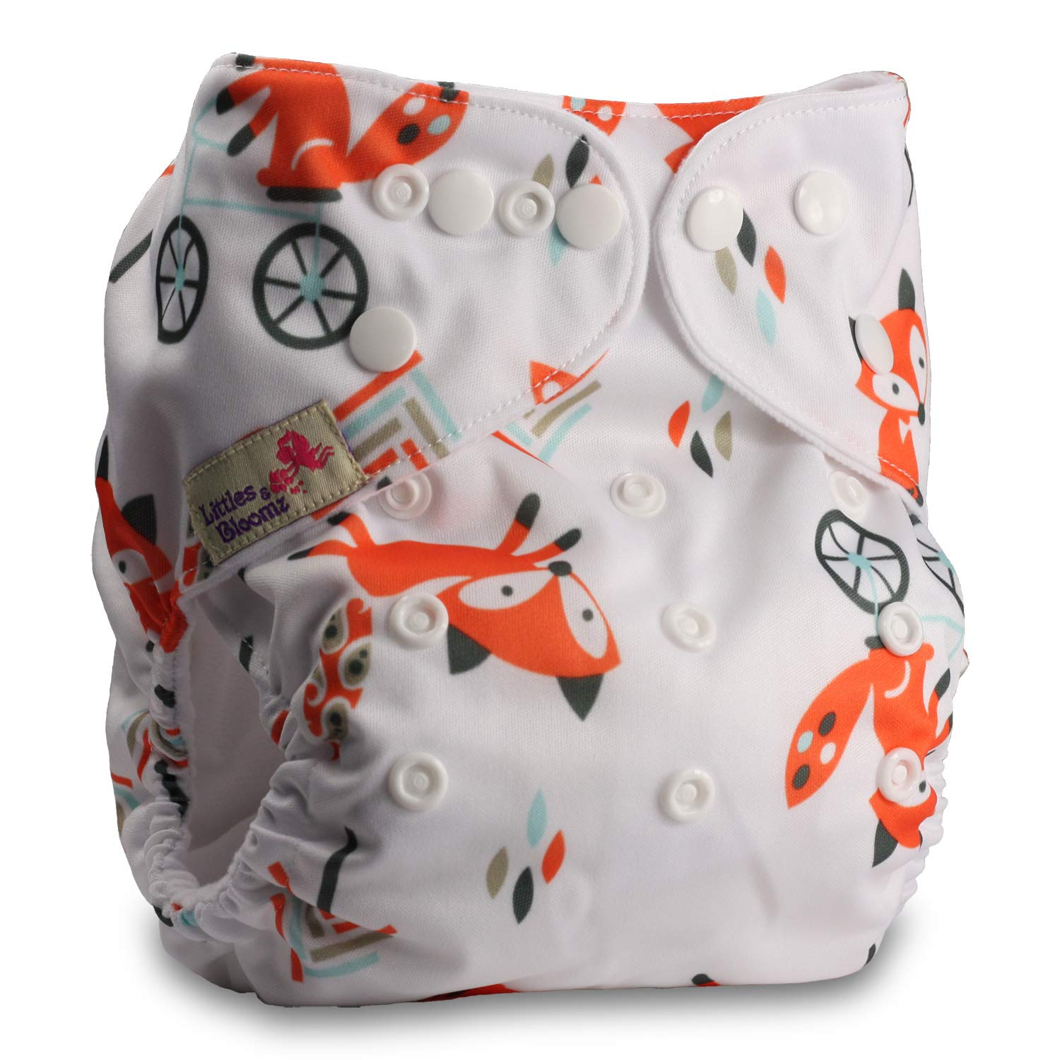 Pattern 76 Fastener: Popper Reusable Pocket Cloth Nappy with 1 Bamboo Charcoal Insert Littles /& Bloomz Set of 1