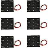 Battery Case Holder Box 4 x 1.5V AAA Battery with Black and Red Wire Leads (6 Pcs)