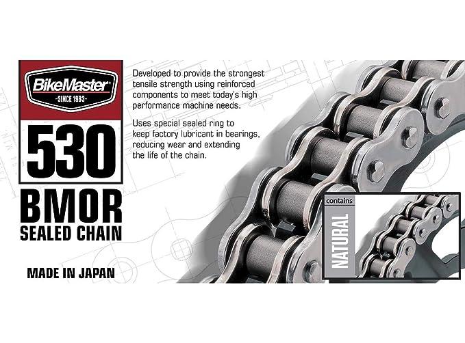 BikeMaster® 530 BMOR Series Chain 530 x 150 Black//Chrome