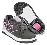 Heelys Kids Propel 2.0 Sneaker, Charcoal/Grey/Pink