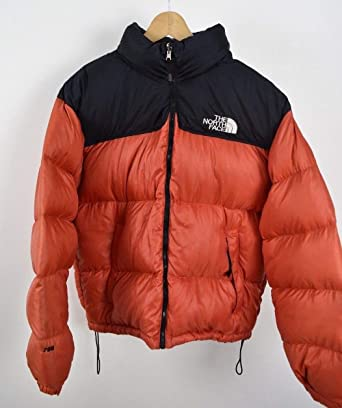 0a1858a3 Mens Large North Face Nuptse Red L Size 700 Down Puffa Jacket Condition  Vintage: Amazon.co.uk: Clothing
