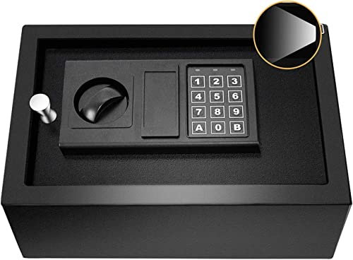 JUGREAT Top Opening Drawer Safe with with Induction Light,Electronic Digital Securit Safe Steel Construction Hidden with Lock,for Home Office Hotel Business