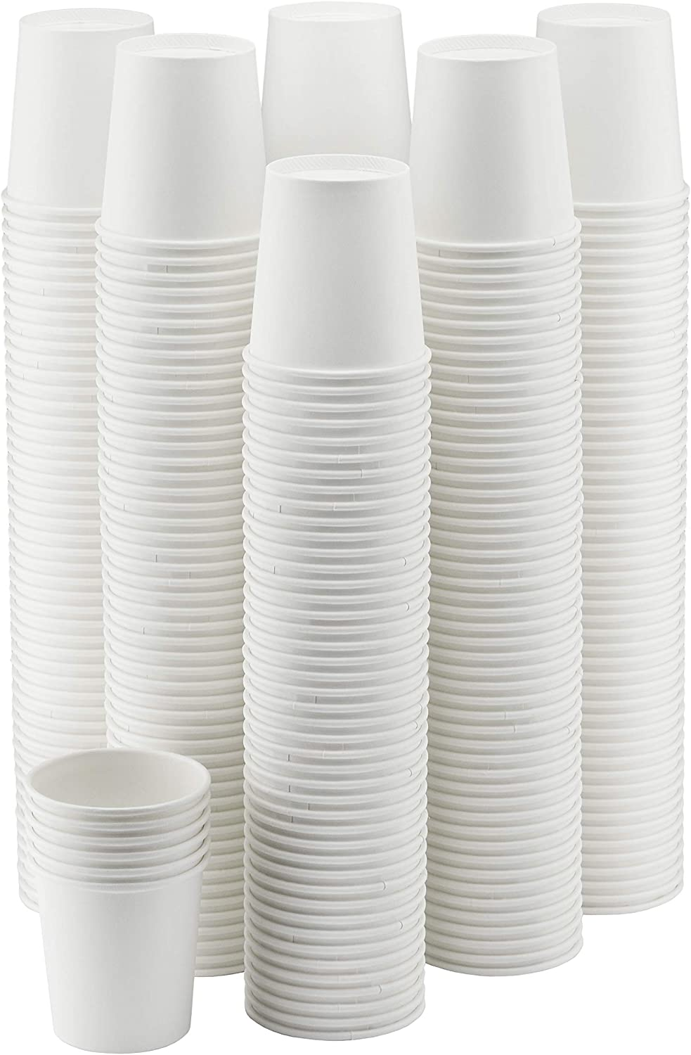 Amazon Com Nyhi 300 Pack 6 Oz White Paper Disposable Cups Hot Cold Beverage Drinking Cup For Water Juice Coffee Or Tea Ideal For Water Coolers Party Or Coffee On The
