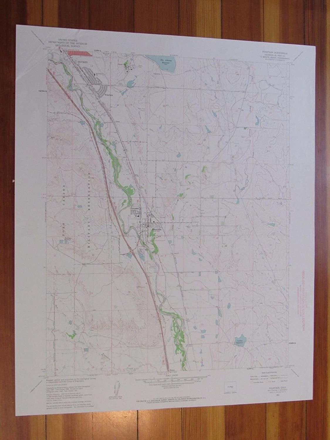 Amazon.com: Fountain Colorado 1963 Original Vintage USGS ... on