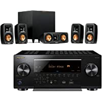 Klipsch Reference Theater Pack 5.1 Surround Sound System Bundle with Pioneer VSX-LX503 9.2-Channel 4k Ultra HD Network A/V Receiver - Black