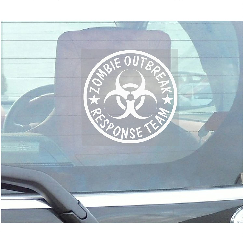 Bumper sticker creator uk - Zombie Outbreak Response Team Window Sticker Car Van Truck Vehicle Self Adhesive Vinyl Sign Amazon Co Uk Car Motorbike