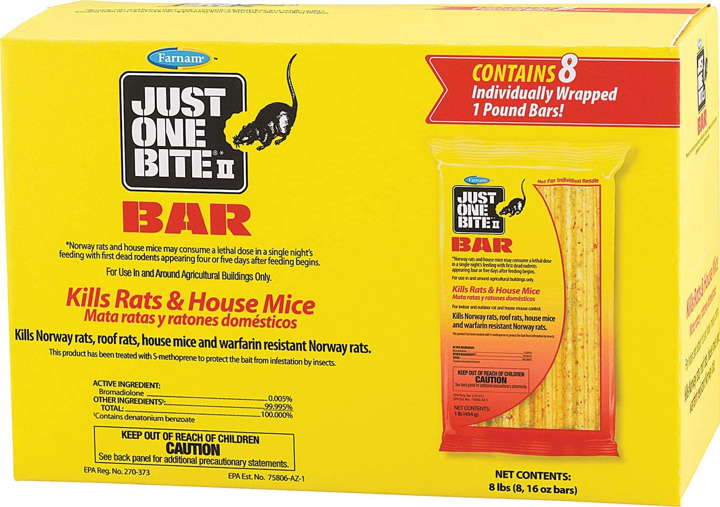 Just One Bite II Rat & Mouse bar 8pk 8lb