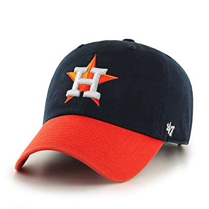 b89ad618d MLB Houston Astros '47 Brand Clean Up Adjustable Cap-2013 Road Style, One  Size, Navy