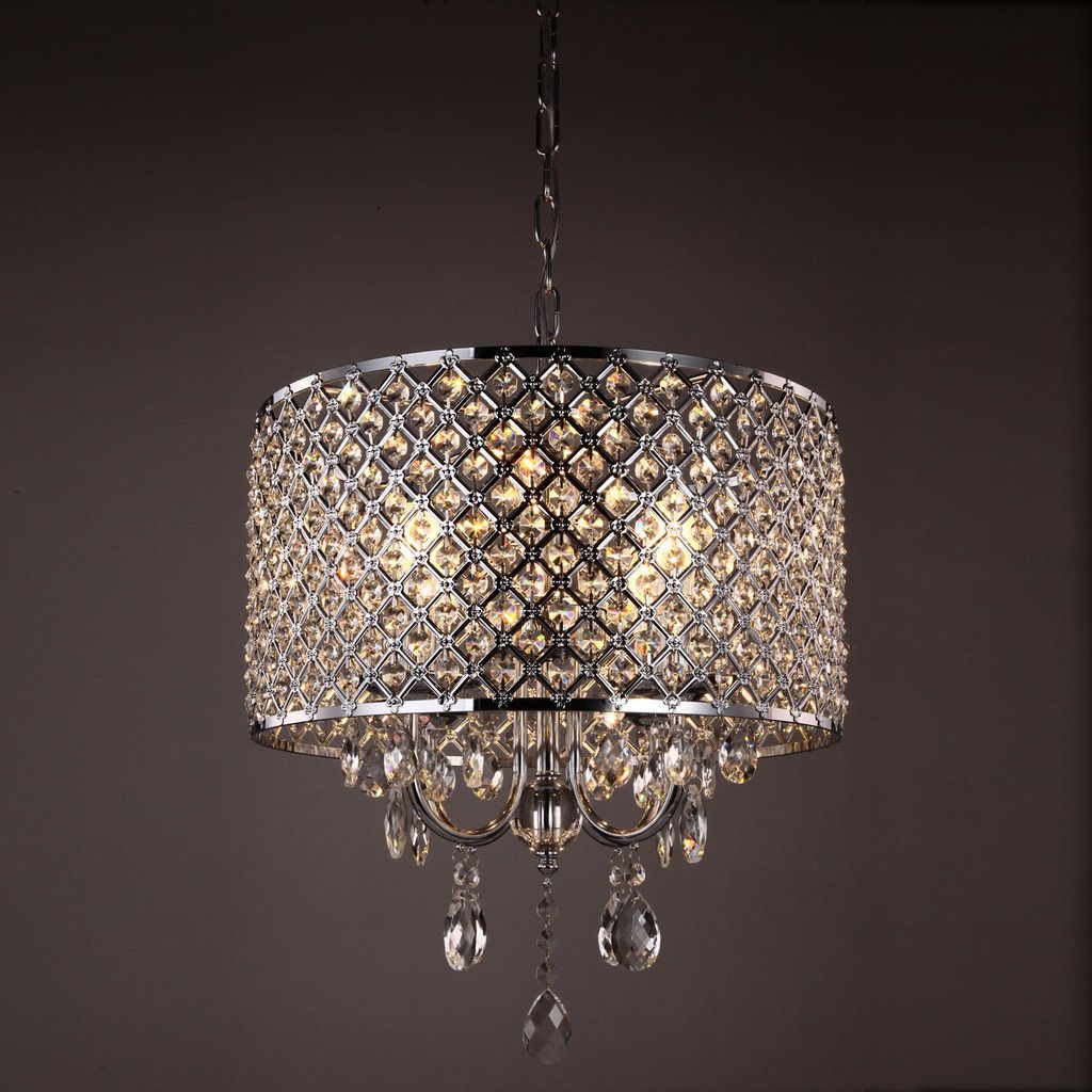 shipping today crystal orb nickel free pendant product light overstock garden home chandelier brushed