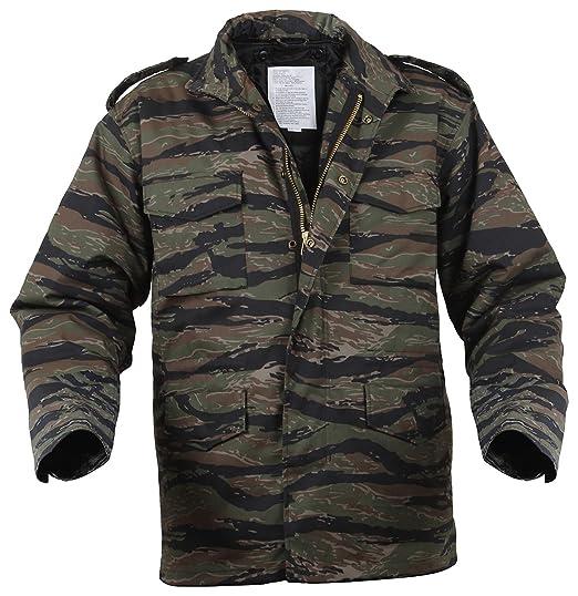 6f8e94eb0168a Amazon.com: Rothco M-65 Field Jacket With Liner - TIGER STRIPE ...