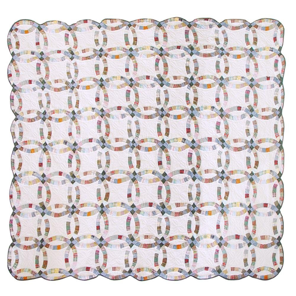 Patch Magic Queen Country Wedding Ring Quilt, 85-Inch by 95-Inch by Patch Magic