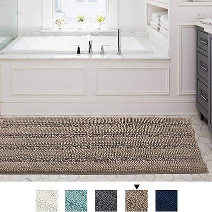 Amazon Com Runner Rug Non Slip Striped Plush Hallway Carpet Entry