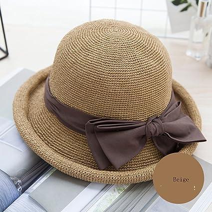 6c8fa85cc4f Huifang Hats QFFL xiajibaidamaozi Hat Cover The Face to Travel Parent-Child  Cap Adult Female