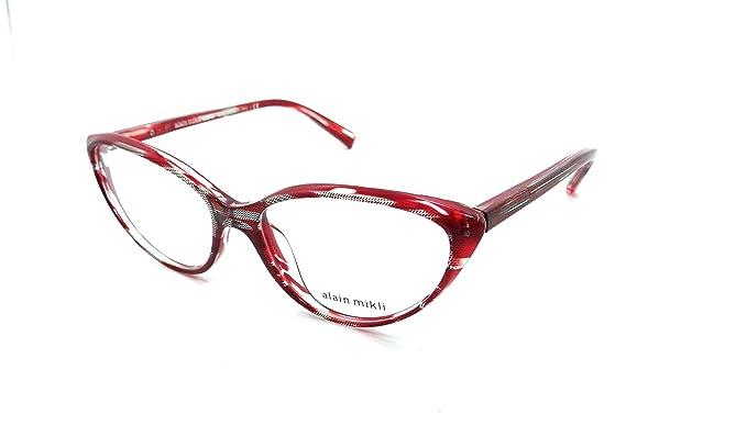 dc96629da6a Alain Mikli - Monture de lunettes - Femme Rouge rouge 55  Amazon.fr ...