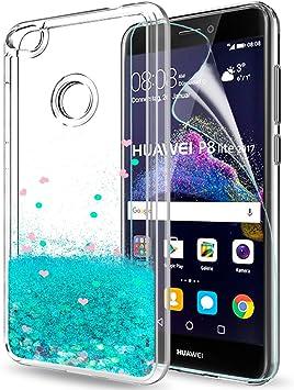 LeYi Funda Huawei P8 Lite 2017 / P8Lite 2017 Silicona Purpurina ...