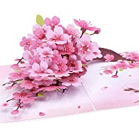Oritouchpop Cherry Blossom Pop Up Card, Handmade 3D Greeting Card, Mothers Day Card for Her Women Birthday Wedding…