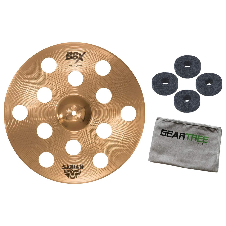 Sabian 41600X 16in B8X O-Zone Series Crash Cymbal Bundle w/Felts and Cloth