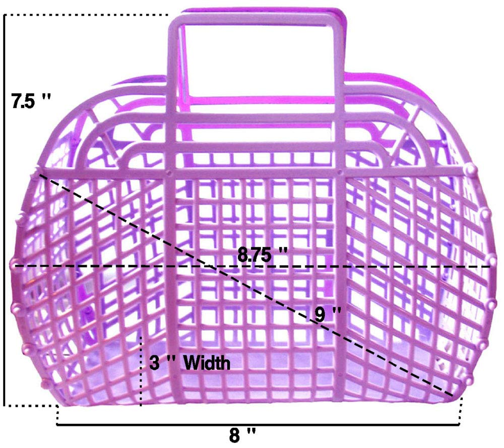 The Original Retro Jelly Purse, Handbag, 9'', Pearl Pink by Fashion Jellies (Image #3)