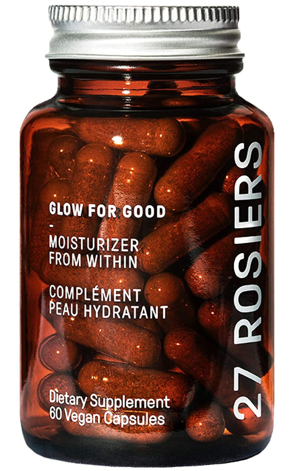27 Rosiers - Glow For Good Moisturizer From Within | Clean Beauty Supplement (60 Capsules)
