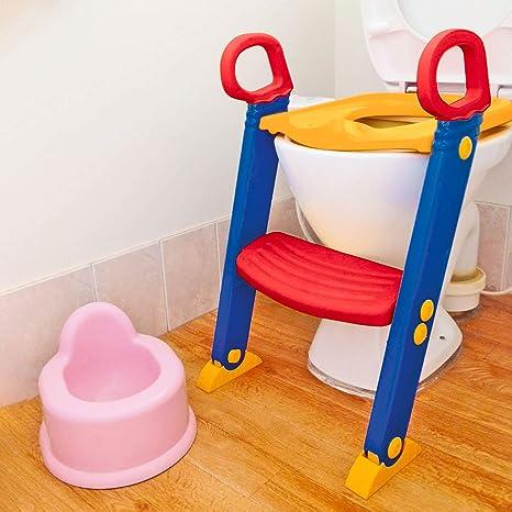 TechnoTec - Asiento para inodoro con escalera para niños: Amazon.es: Bebé