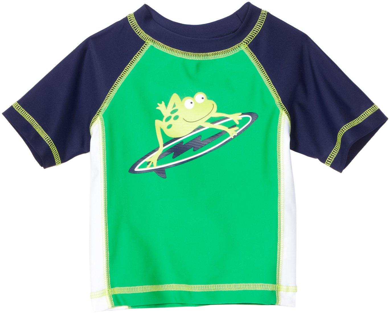 Little Me Baby Boys' Frog Rashguard