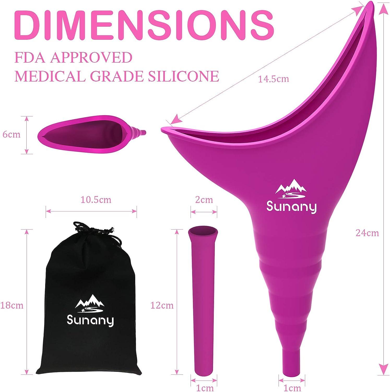 Female Urinal Silicone Funnel Urine Cups Portable Ur... Female Urination Device