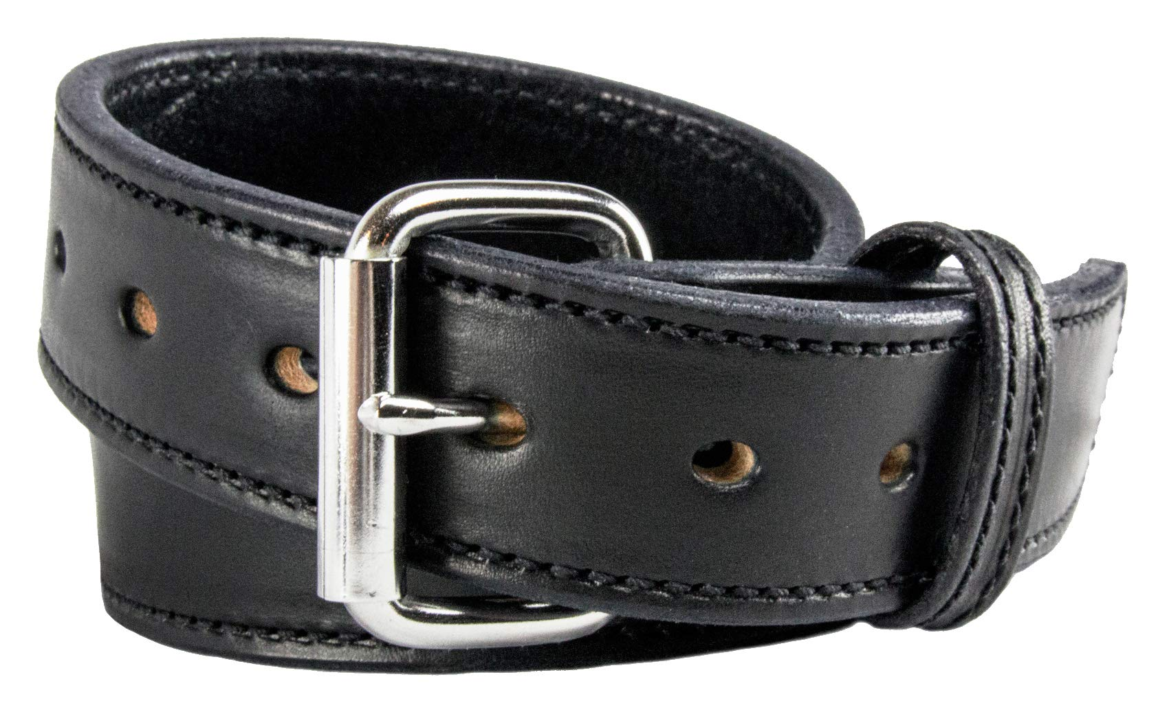Relentless Tactical The Ultimate Concealed Carry CCW Leather Gun Belt - 14 Ounce 1 1/2 Inch Premium Full Grain Leather Belt - Handmade in The USA! Black Size 32