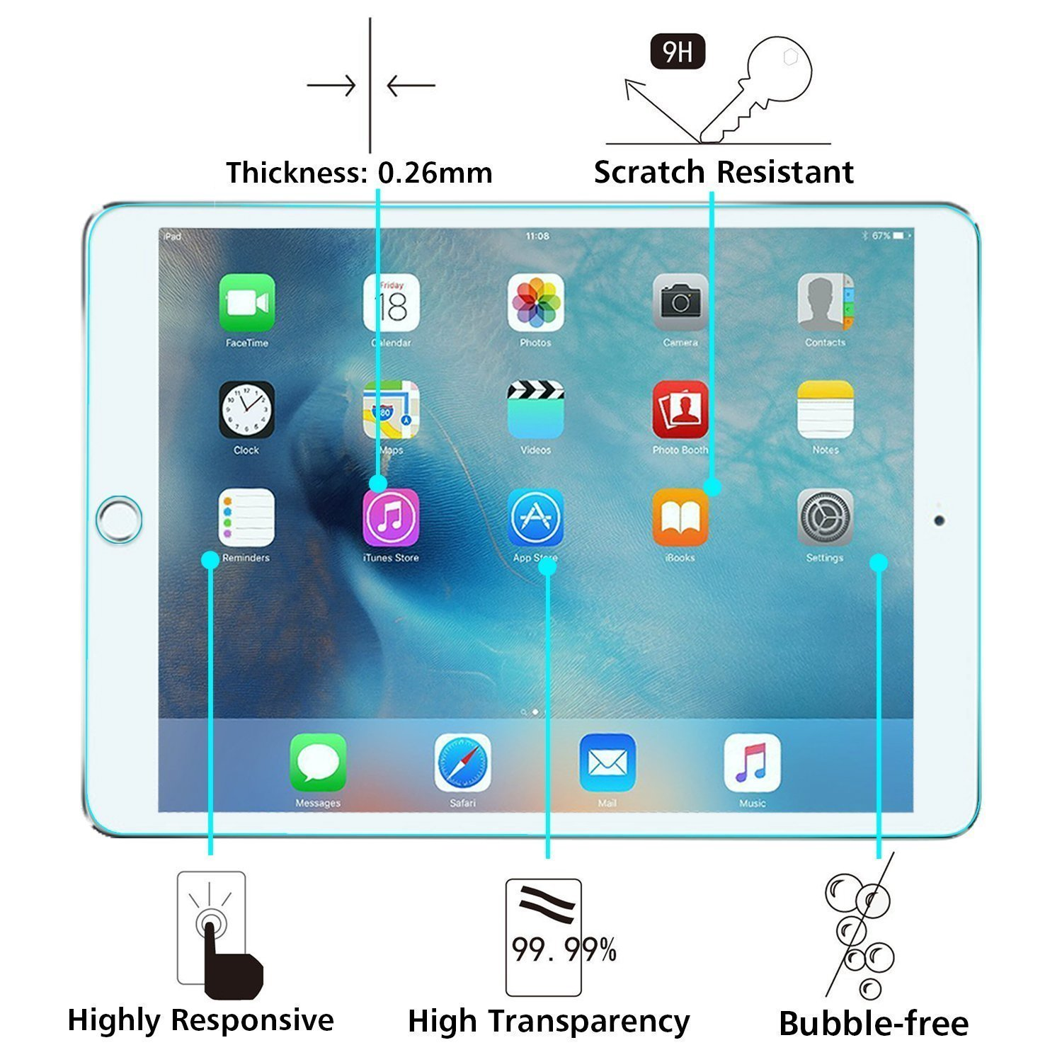 Surface pencil compatible tempered glass screen protector with 2 5d - Amazon Com Ipad Pro 9 7 Screen Protector Apple Pencil Compatible Kingcoo Apple Ipad Pro 9 7 Inch Tempered Glass Screen Protector With 2 5d Round Edge