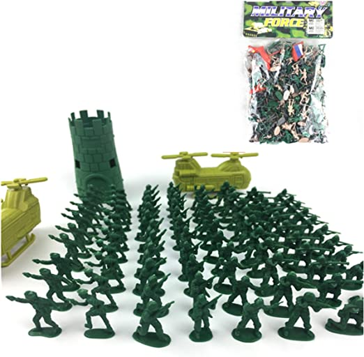 100PC TOY SOLDIERS FOR BOYS ARMY SOLDIER FIGURES MILITARY ADVENTURE ACTION TANK