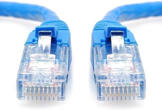 25 ft Blue SoDo Tek TM RJ45 Cat5e Ethernet Patch Cable for HP Color Laserjet 5550dn Printer