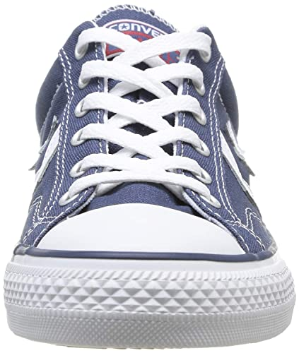 2881701b7cf0e3 Converse Womens Star Player Ox Navy White Textile Trainers 6 US