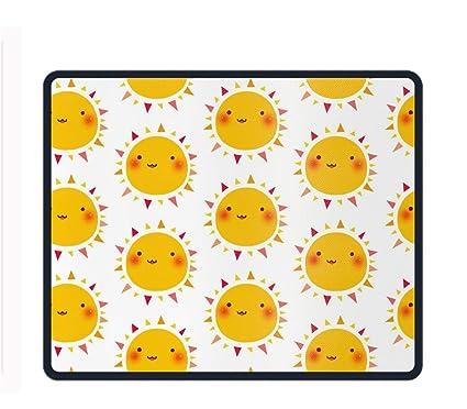 amazon com happy suns pattern custom mouse pad non slip rubber