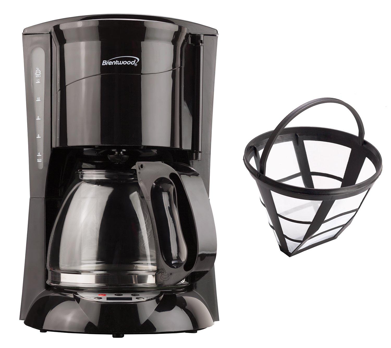 Brentwood 12-Cup Coffee Maker (Black; Digital)